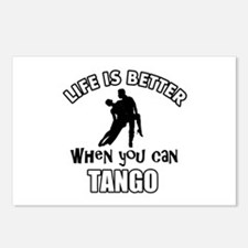 Life is better with a Tango dancer Postcards (Pack