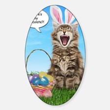 easterkitten_greet Sticker (Oval)