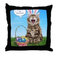 easterkitten_greet Throw Pillow