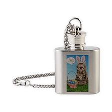 easterkitten_greet Flask Necklace