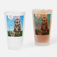 easterkitten_greet Drinking Glass