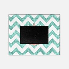 Coral Glitter Nautical Anchor Teal C Picture Frame