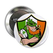 "Irish leprechaun rugby player celtic  2.25"" Button"