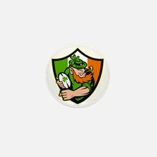 Irish leprechaun rugby player celtic s Mini Button