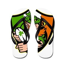 Irish leprechaun rugby player celtic sh Flip Flops