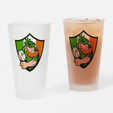 Irish leprechaun rugby player celti Drinking Glass