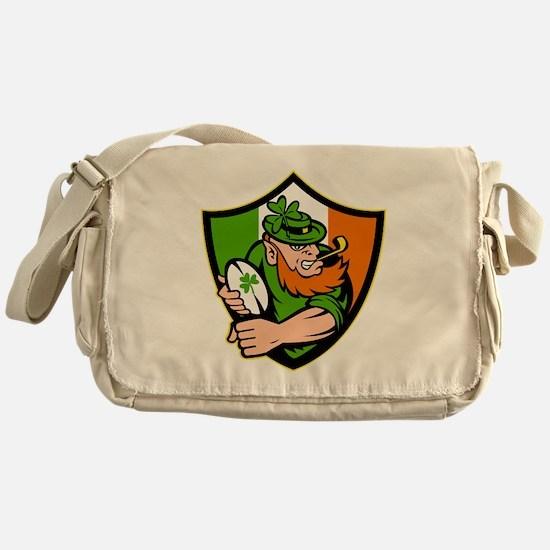 Irish leprechaun rugby player celtic Messenger Bag