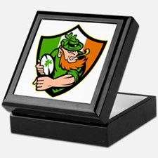 Irish leprechaun rugby player celtic  Keepsake Box