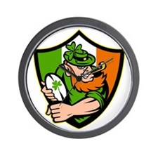 Irish leprechaun rugby player celtic sh Wall Clock