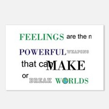 Feelings change worlds quote Postcards (Package of