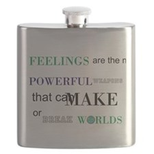 Feelings change worlds quote Flask