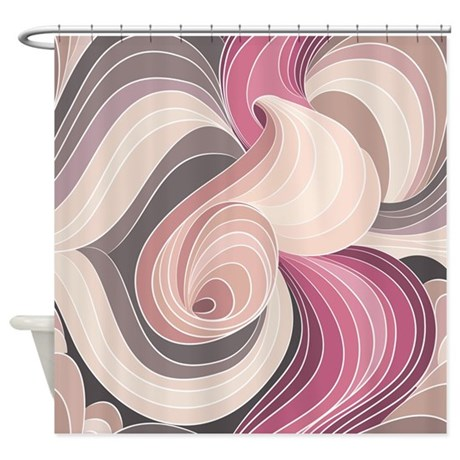 Swirls Pattern Shower Curtain
