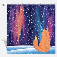 Northern Lights Fox Shower Curtain