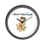 I Want Your Sax Wall Clock