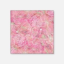 """Girly Pink Tribal Abstract  Square Sticker 3"""" x 3"""""""