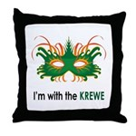 With the Krewe Throw Pillow