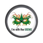 With the Krewe Wall Clock