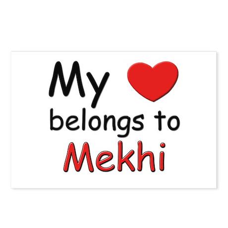 My heart belongs to mekhi Postcards (Package of 8)