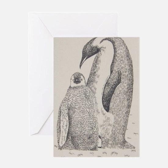 Penguin_KlineSq Greeting Card