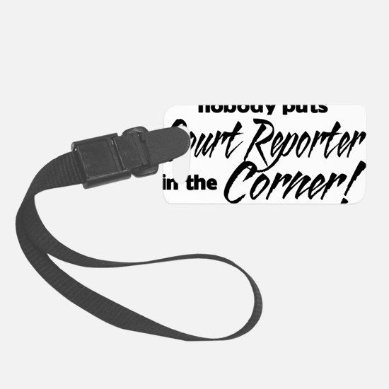 court reporter Luggage Tag