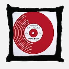 I Heart Vinyl Throw Pillow