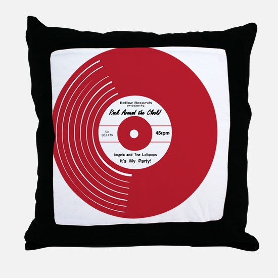 I Heart Vinyl Throw Pillow