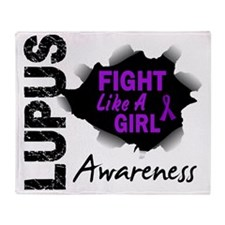Fight Like A Girl 14.3 Lupus Throw Blanket