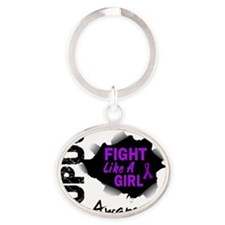 Fight Like A Girl 14.3 Lupus Oval Keychain