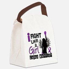 Fight Like A Girl Lupus 26.2 Canvas Lunch Bag