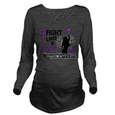 Fight Like A Girl Lu Long Sleeve Maternity T-Shirt