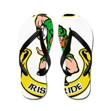 Irish leprechaun rugby player running b Flip Flops