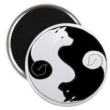Ying Yang Akita Magnet
