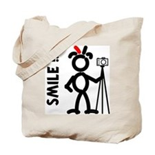 Red Smile3 Tote Bag