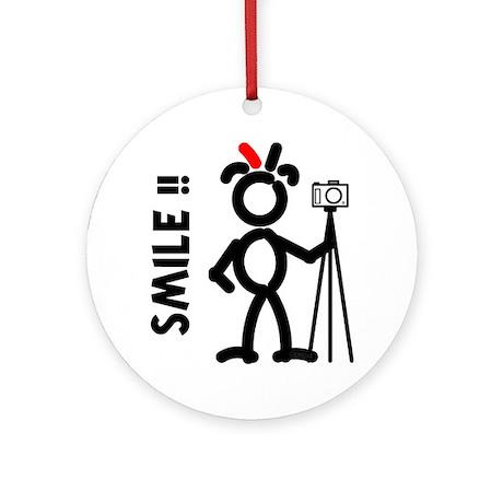 Red Smile3 Ornament (Round)