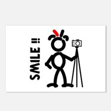 Red Smile3 Postcards (Package of 8)