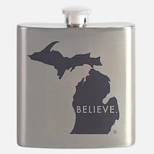Believe in Michigan Flask