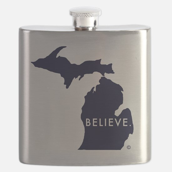 Believe in Michigan Flask