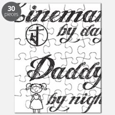 lineman by day daddy by night Puzzle