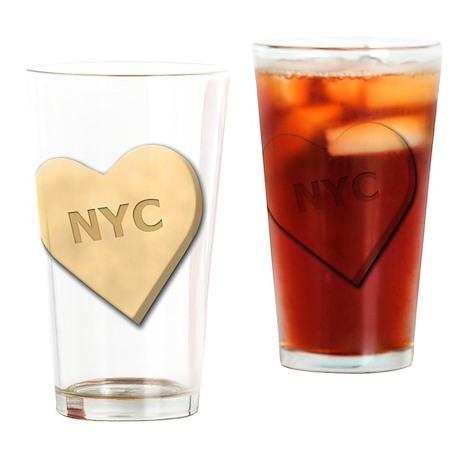 SWEETHEARTNYCYELLOW Drinking Glass