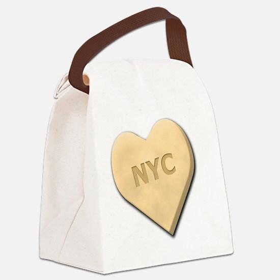 SWEETHEARTNYCYELLOW Canvas Lunch Bag