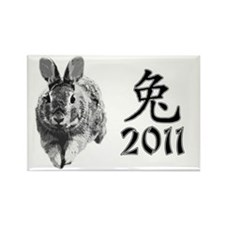 2011rabbit Rectangle Magnet