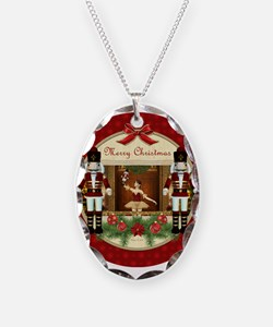 Red Nutcracker Ballerina Oval Necklace