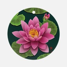waterlily-pillow Round Ornament
