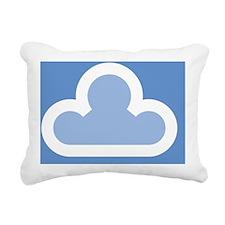 white-cloud1-filled Rectangular Canvas Pillow