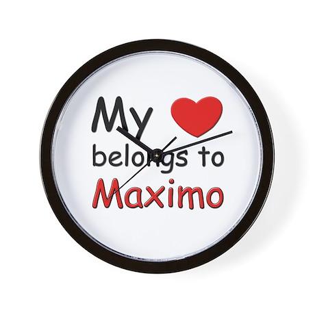 My heart belongs to maximo Wall Clock