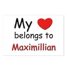 My heart belongs to maximillian Postcards (Package