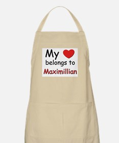 My heart belongs to maximillian BBQ Apron