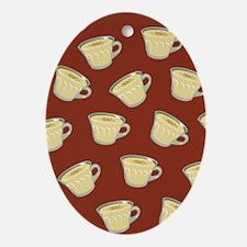 Eggnog Pattern Ornament (Oval)