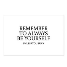 Remember To Always Be Yourself Postcards (Package