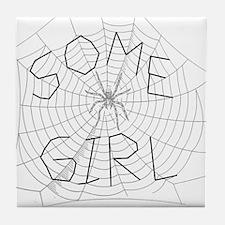 Some Girl Tile Coaster